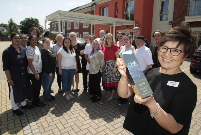 Proud - Manor Lodge care home scooped a top award