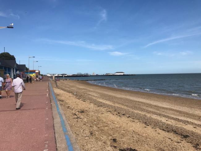 Scene - Haider and Malika Shamas died after getting into difficulty in the sea off West Greensward, Clacton