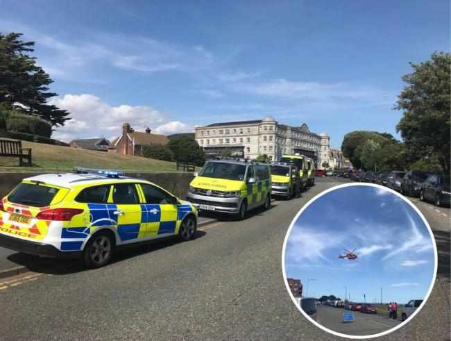 An 18-year-old has died after three people were pulled from the sea in Clacton