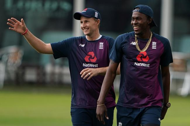 England captain Joe Root, left, has no problem in handing Jofra Archer his Test debut against Australia