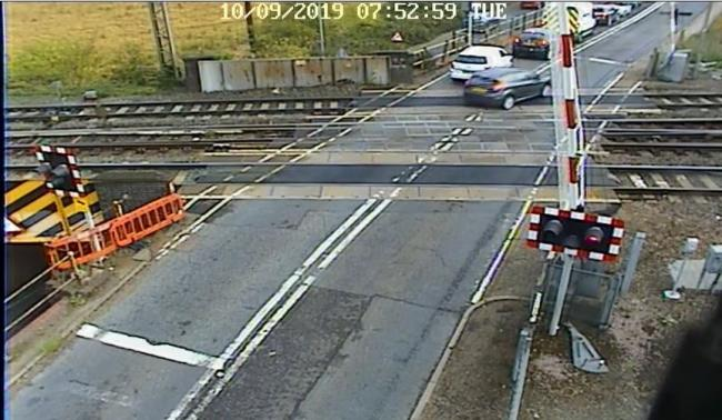 Shocking footage released to warn drivers of level crossings
