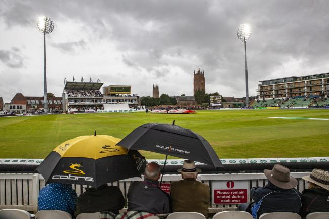 Rain stopped play - just 27.5 overs of play took place before the rain washed out day one of Essex's crucial clash at Somerset Picture: GAVIN ELLIS/TGS PHOTOS