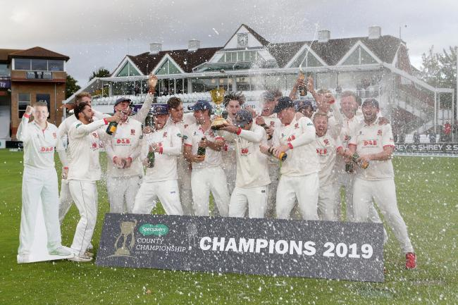 Celebration time - Essex show their joy after being crowned county champions