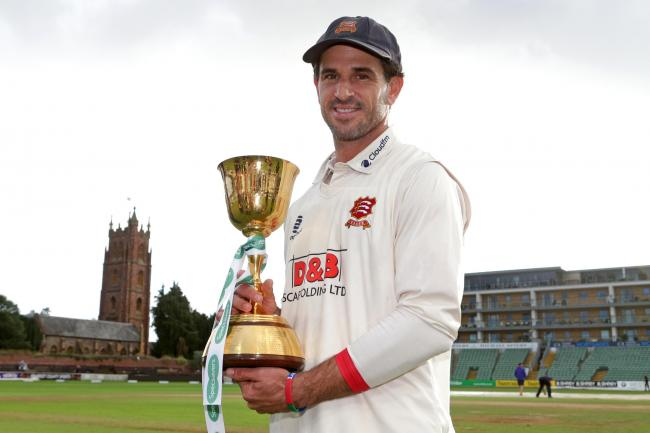 Flashback - Essex skipper Ryan ten Doeschate with the Championship Trophy at the end of last season