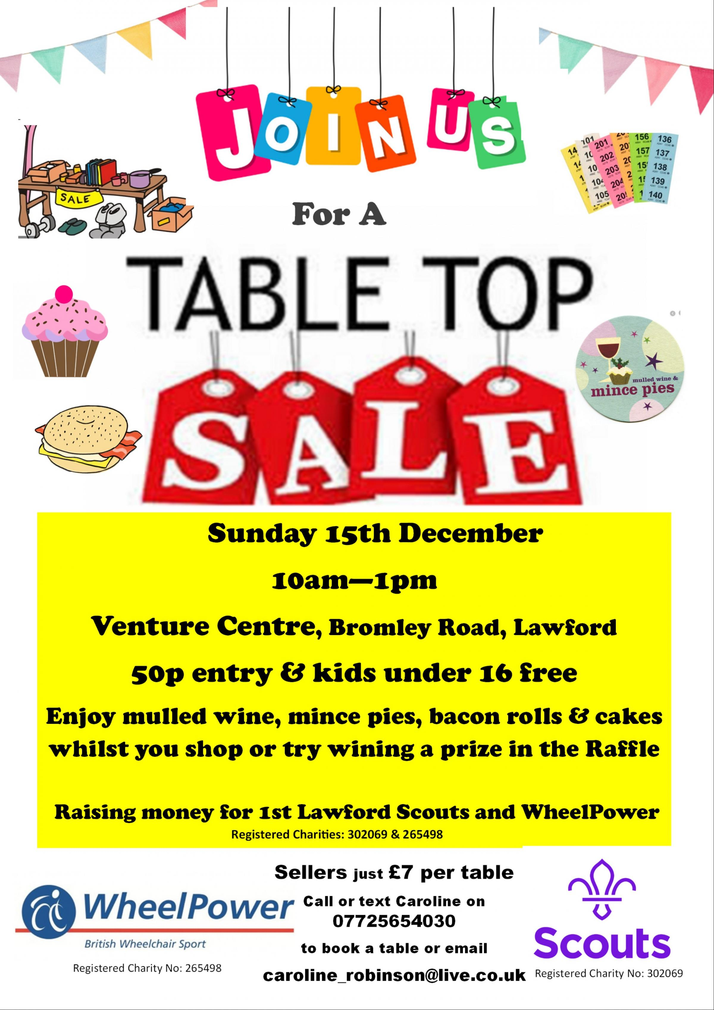 Lawford Table Top Sale
