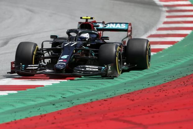Mercedes driver Valtteri Bottas qualified fastest for the Austrian Grand Prix