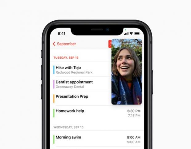Brentwood Live: With Picture-in-Picture, users can watch a video or take a FaceTime call while using another app. Picture: Apple