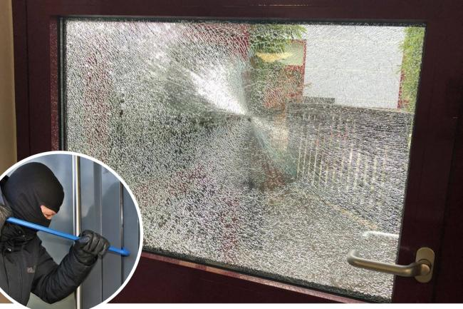 Vile crooks smash their way into hospice during weekend raid
