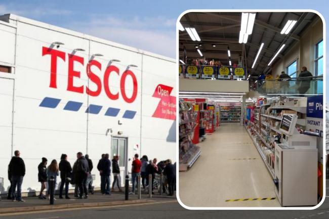 Tesco has now reopened non-grocery aisles in some of its bigger supermarkets around England