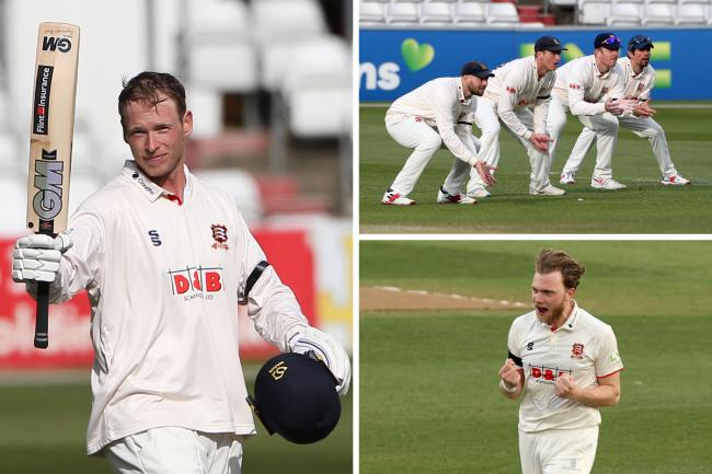 Doing well - Essex are on top against Worcestershire Pictures: GAVIN ELLIS