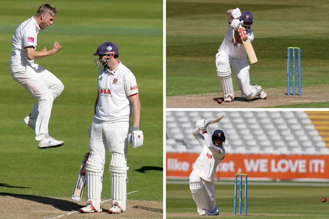 Solid start - Essex were bowled out for 295 at Warwickshire Pictures: GAVIN ELLIS es