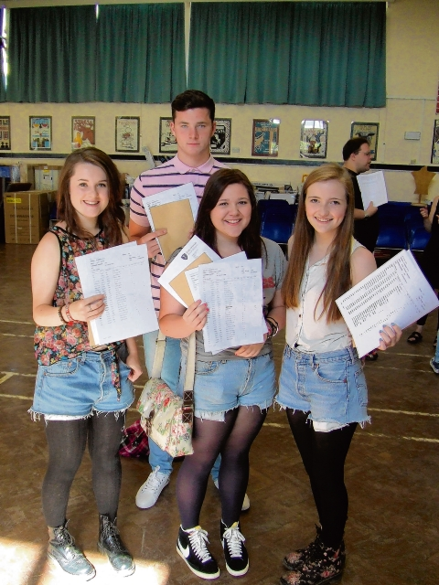 Brentwood School's Jack Morgan, Lottie Wibrow, Izzy Colyer and Amber Weichhart celebrate
