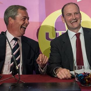 Brentwood Live: UKIP leader Nigel Farage (left) with Douglas Carswell who has defected from the Conservatives