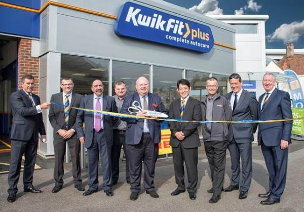 Eric Pickles joins centre manager David Silman to open the new-look garage