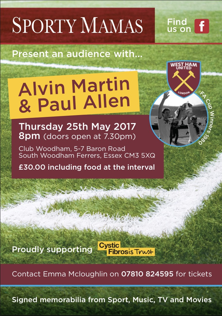 An Audience with West Ham Legenda Alvin Martin &a Paul Allen