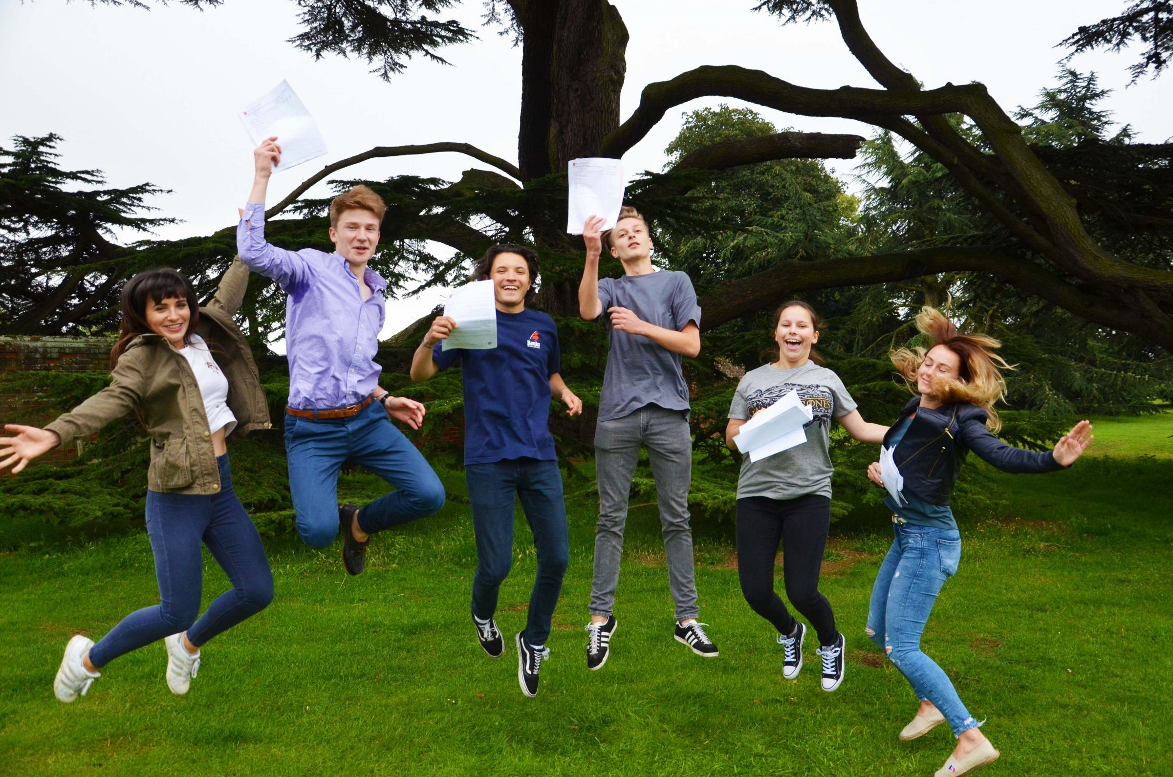 Students celebrate their A-level results In Chelmsford and Brentwood