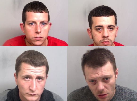 Jailed - the gang were handed hefty sentences