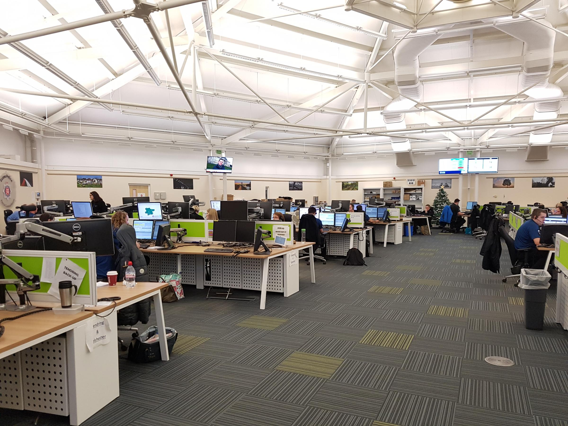 Calls - Essex Police's force control room