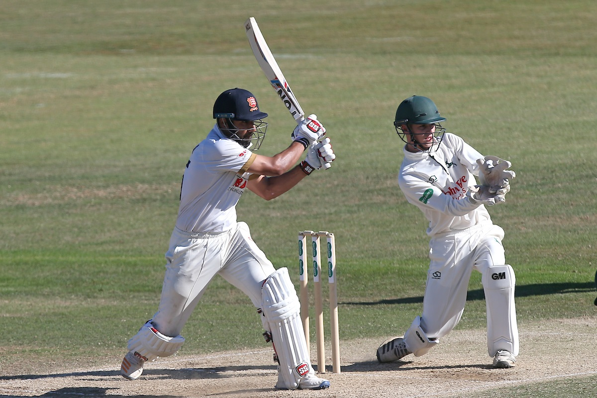 Hitting out - Ravi Bopara in batting action for Essex during the third day of the match against Notts at Chelmsford Picture: TGS PHOTO/GAVIN ELLIS
