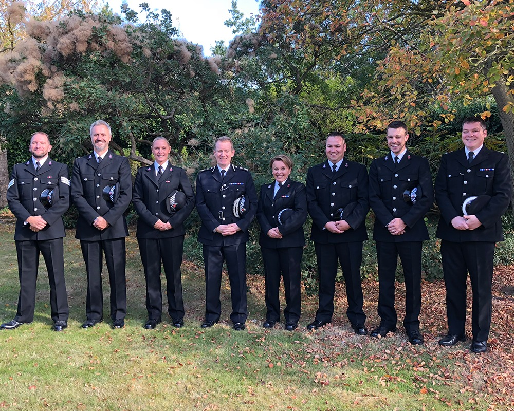 The officers were commended by Essex Police after the hurricane in September last year