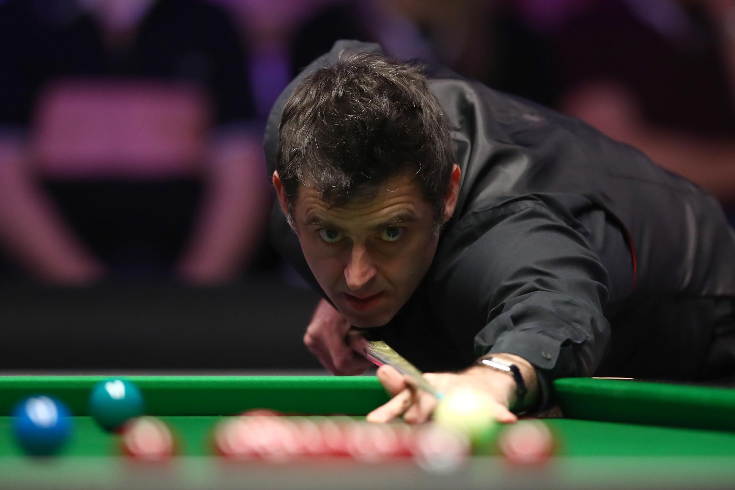 Ronnie O'Sullivan at the 2018 Dafabet Masters