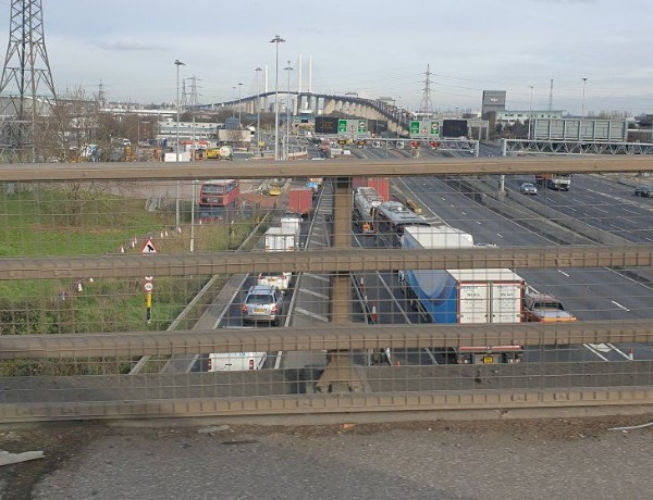 Traffic near the Dartford Tunnel. Pic: Kent 999s