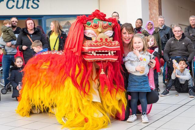 Colourful - previous celebrations of Chinese New Year at the Royals Shopping Centre