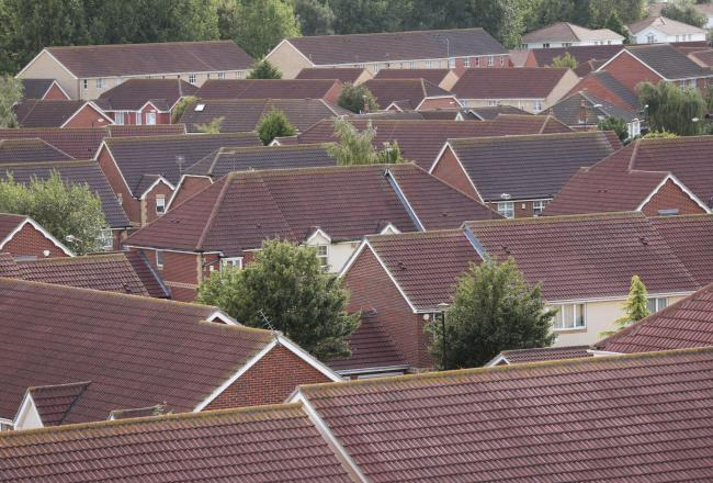 An aerial photo above a housing estate. Picture: Yui Mok/PA Wire