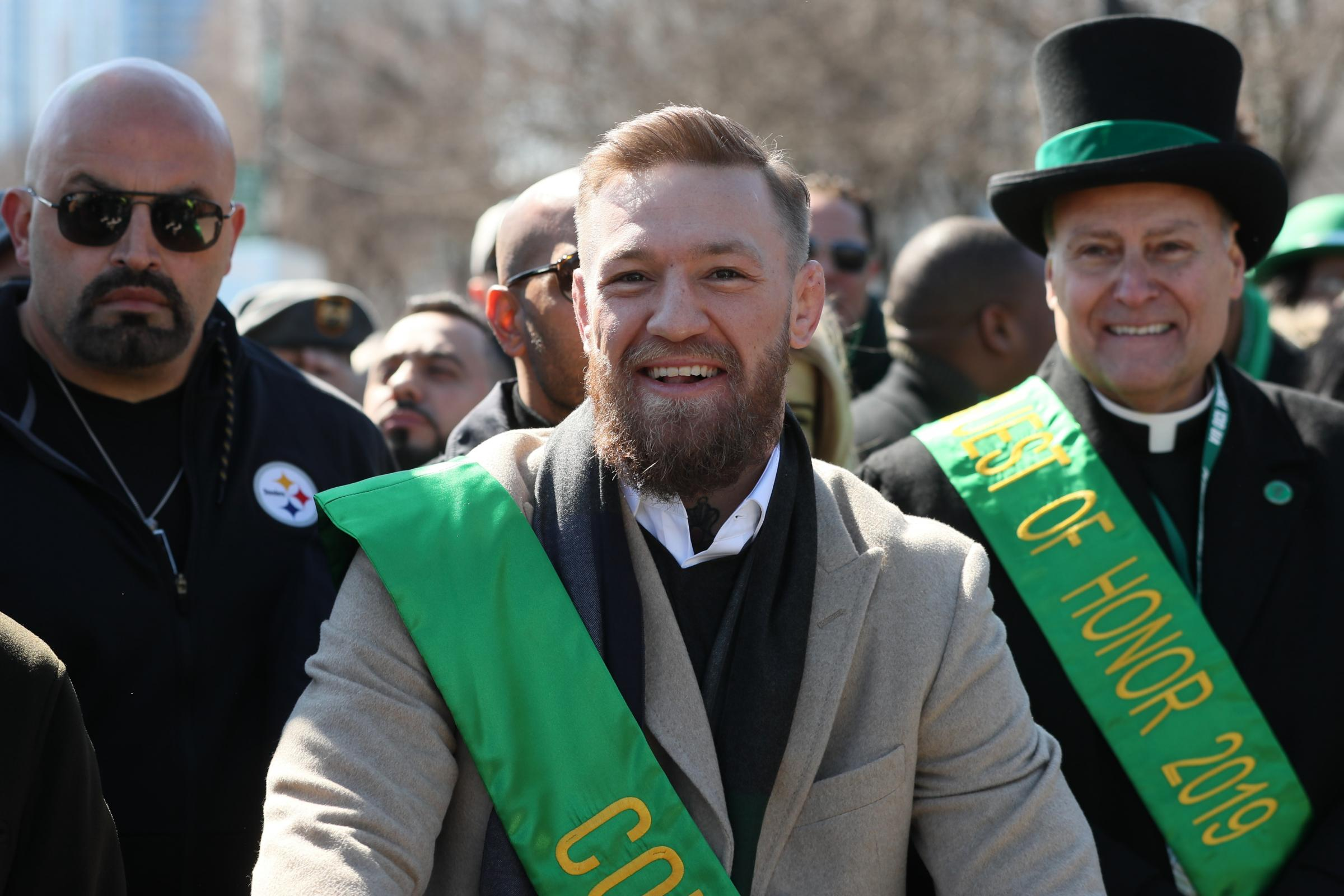 Conor McGregor joins the St Patrick's Day Parade in Chicago
