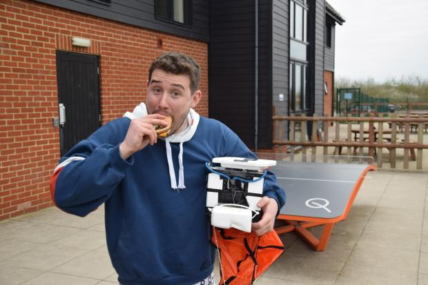 Brentwood Live: Tom Stanniland takes a bite of the burger