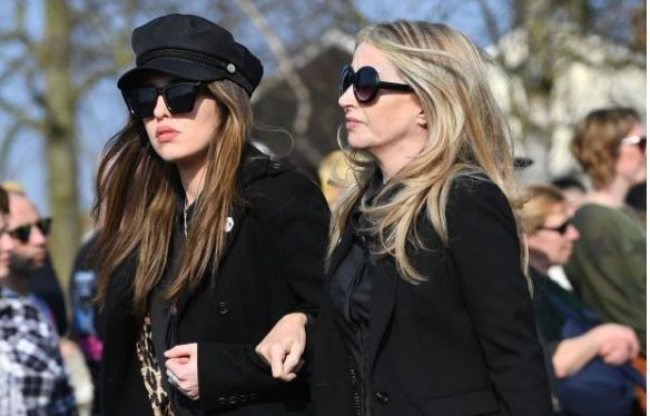 Natalie Appleton (right) attended Keith Flint's funeral in Bocking. Picture by Joe Giddens