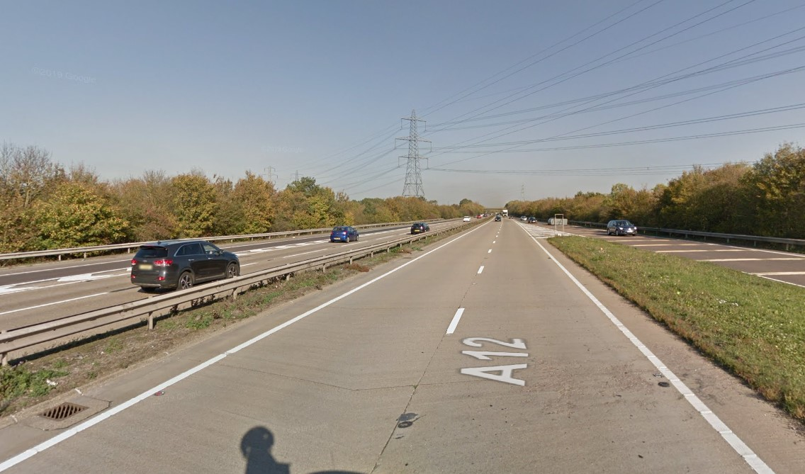 Woman from Colchester dies after A12 crash at Galleywood