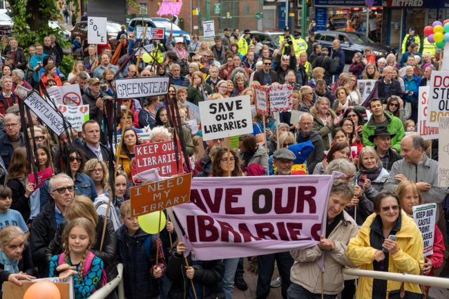 Save our libraries protest, Chelmsford..